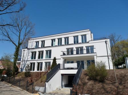 Neubau, Hamburg, Holzfenster, WAREMA, VisiNeo, Glasbrüstung,